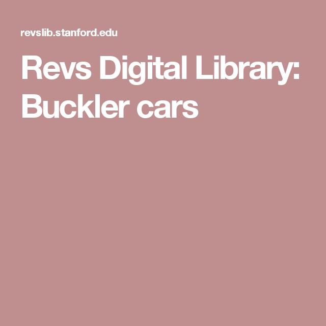 Revs Digital Library: Buckler cars