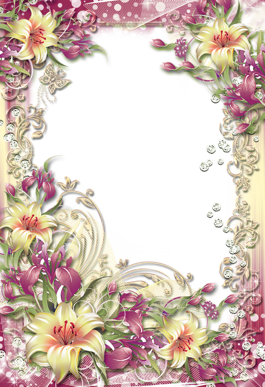 Flower Designs Border Transparent Clip Art Borders Corner