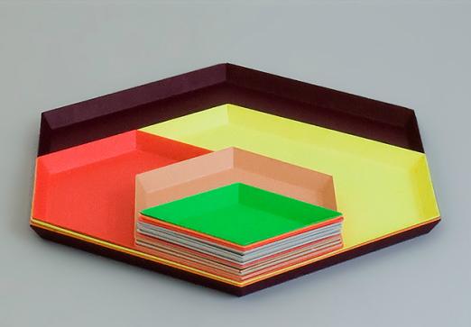 Clara von Zweigbergk's metal trays in luscious colours