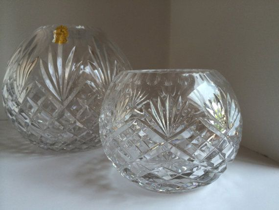 Imperlux Handcut Lead Crystal Rose Bowls Made In Poland 24 Lead Crystal Crystal Rose Rose Bowl