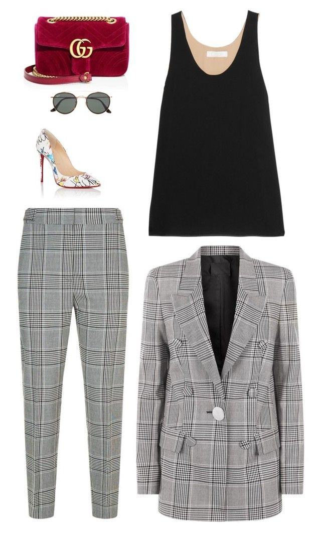 680d7201ca36 Suits by lilsgrey on Polyvore featuring polyvore fashion style Chloé Alexander  Wang Christian Louboutin Gucci Ray-Ban clothing