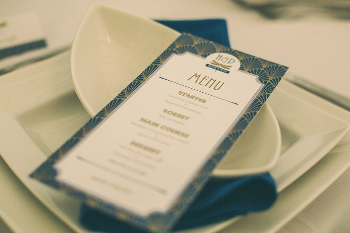 Pantone's Lapis Blue | Wedding Menu Ideas | fabmood.com #wedding #pantone2017 #lapisblue