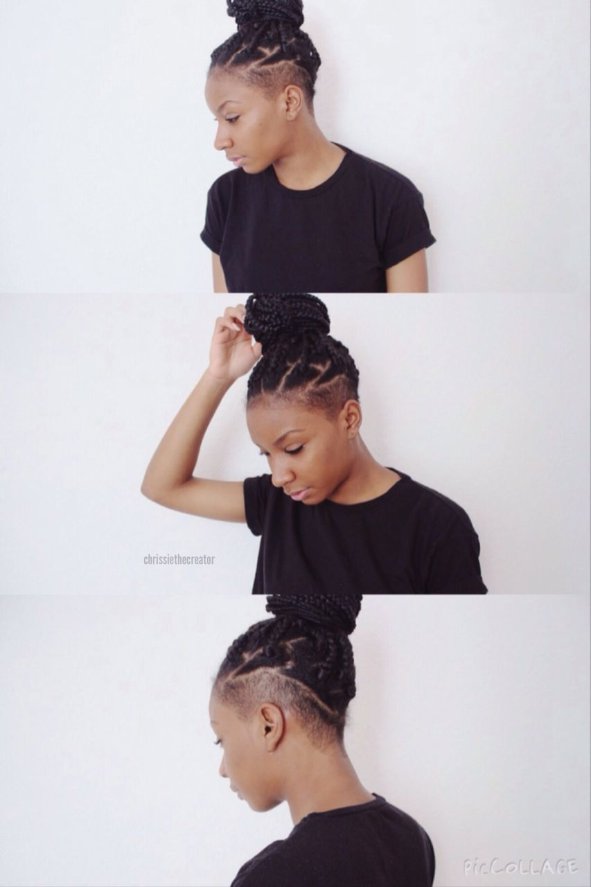 Box Braids Tumblr Braids With Shaved Sides Hair Styles Box Braids Hairstyles