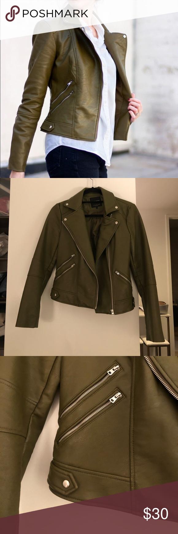 Olive Green Zara Faux Leather Jacket Faux Leather Jackets Leather Jacket Zara Leather Jacket [ 1740 x 580 Pixel ]