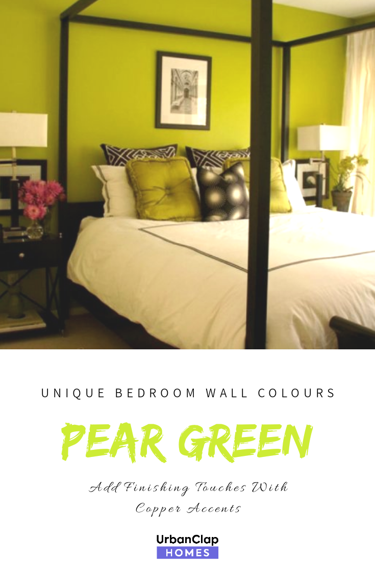 Want to wake stirring  drowsy bedroom colour plan following some bold let us inspire you accumulate shining burst of block or pattern also unique wall paint colours that work for indian homes rh pinterest