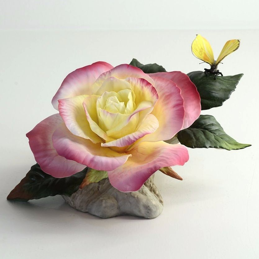 French Parfum Rose Sculpture | F449 | Boehm Porcelain