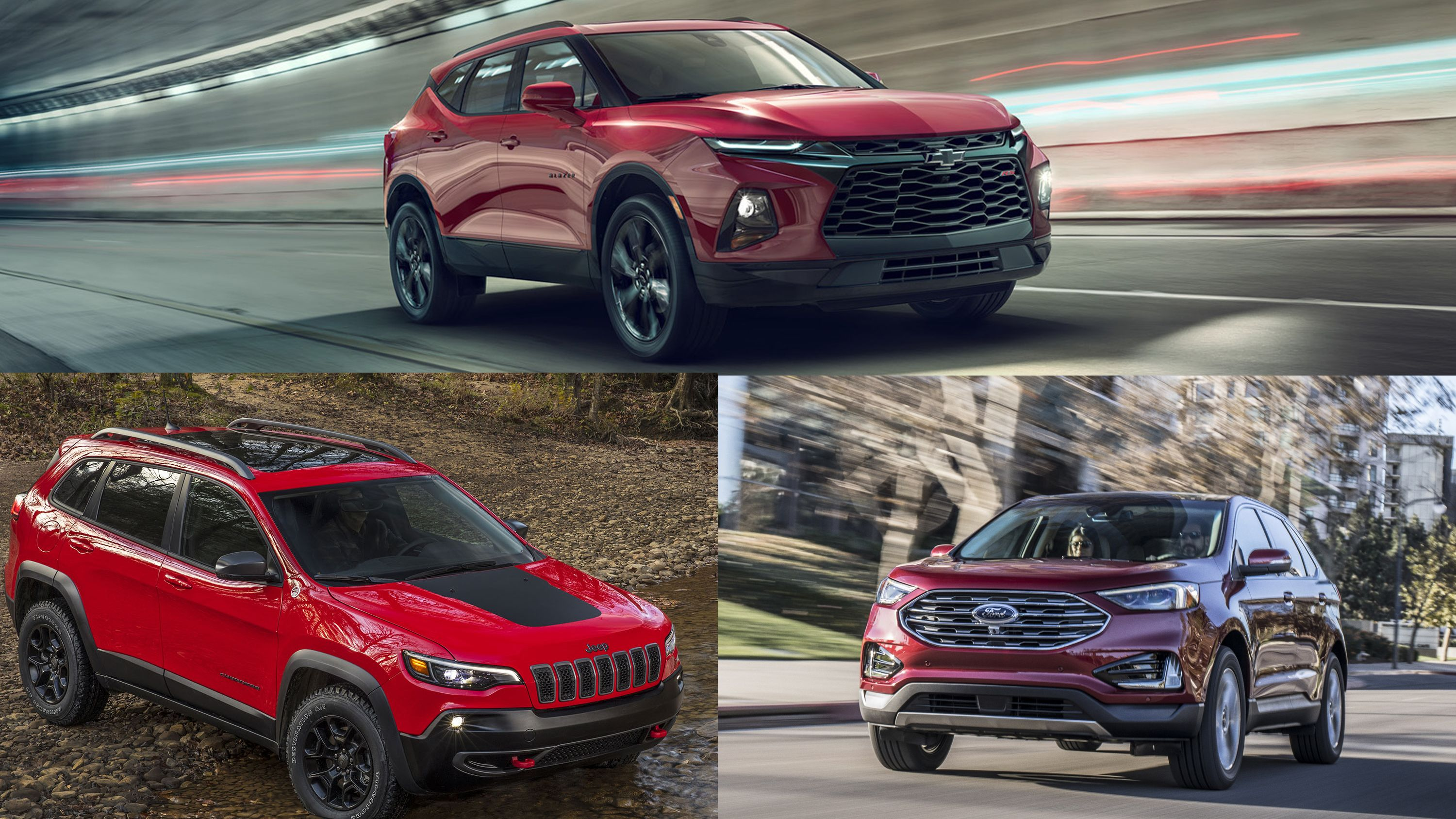 Comparing The Chevy Blazer The Ford Edge And The Jeep Cherokee Jeep Cherokee Chevrolet Suv Chevy