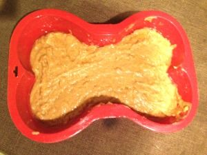 Sweet Potato Cake For Dogs In Bone Shaped Pan Humans Will Love It Too