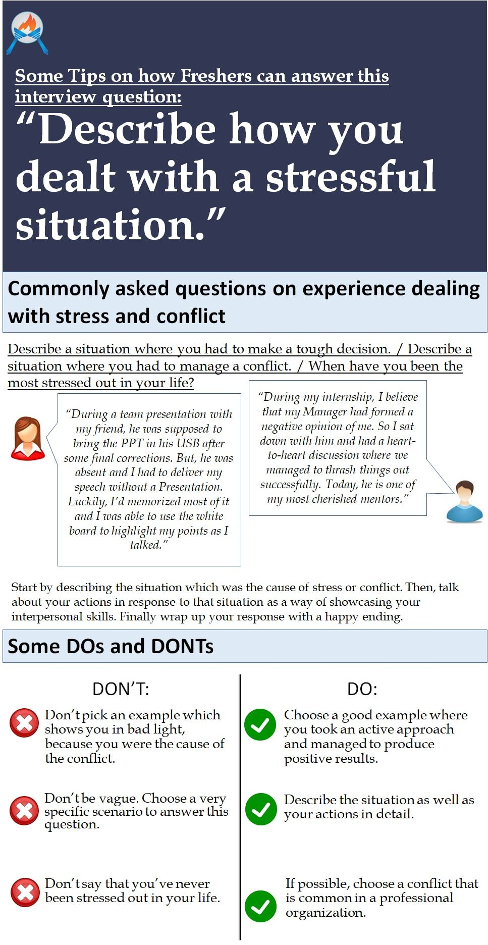 Tips on answering commonly asked questions on experience in dealing tips on answering commonly asked questions on experience in dealing with stress conflict fandeluxe Choice Image