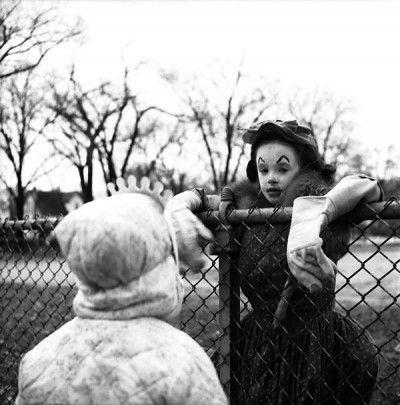 Vivian Maier :: Wilmette, Illinois, Girl In Clown Costume, circa 1967-1968