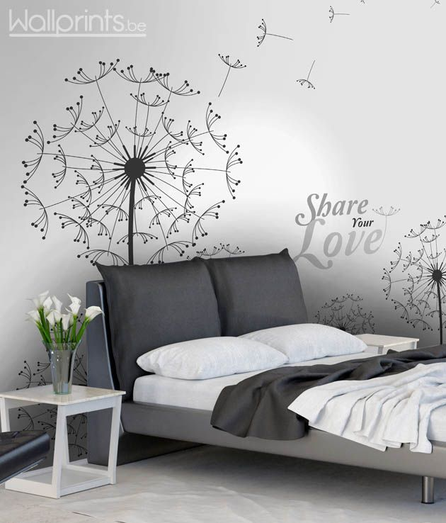 slaapkamer fotobehang bloem | Home | Pinterest | Wall art bedroom ...