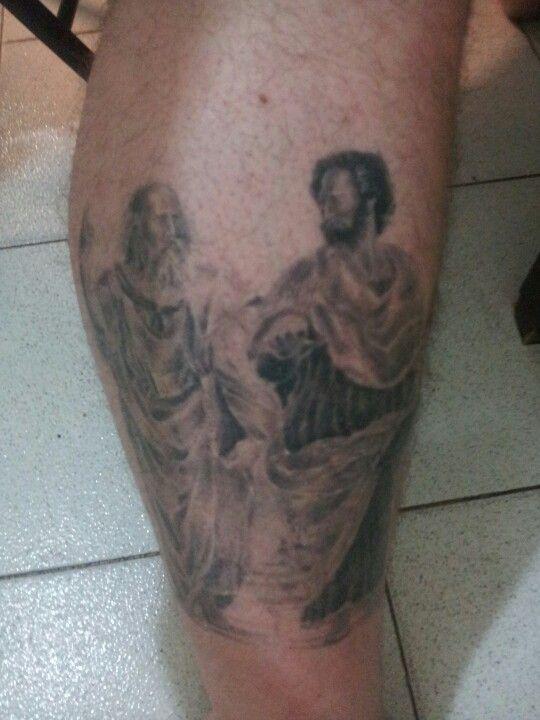 Platon Aristoteles Tatuaje Filosofia Portrait Tattoo Tattoos