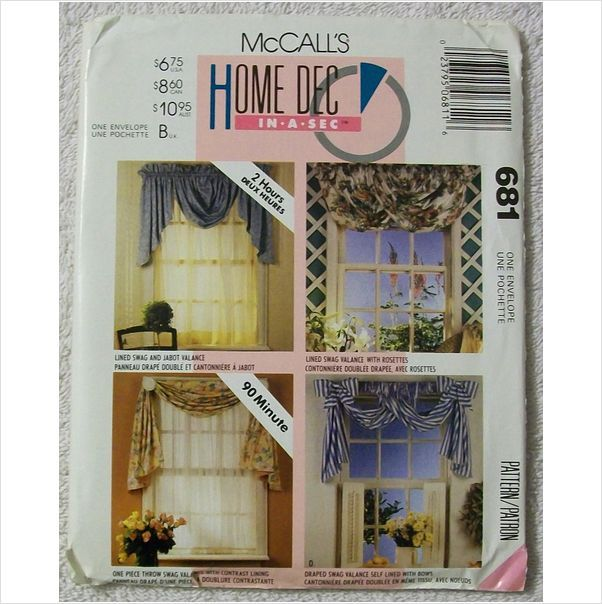 McCall's Home Decorating Window Treatment Curtains Sewing