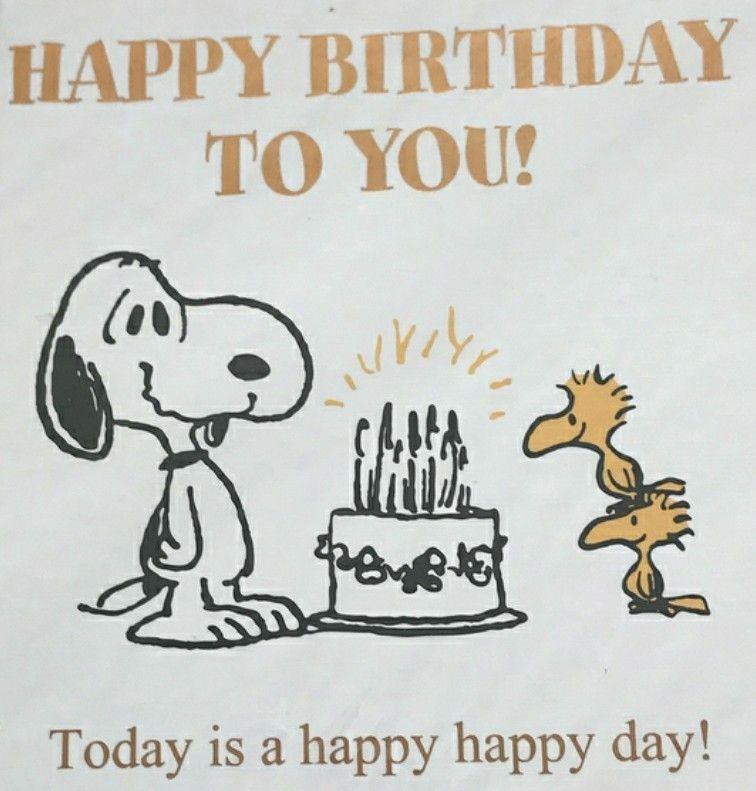 Cute Happy Birthday, Snoopy Love