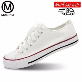 sports shoes 339a2 6743e ซื้อของ Marino รองเท้าผ้าใบผู้หญิง รุ่น A001 - สีขาว Pantip ...