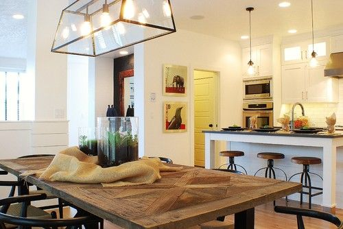 Modern Farmhouse Dining Room Kitchen Eclectic Dining