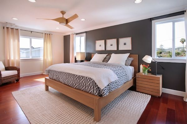 Commanding A Presence Dark Accent Walls That Make A Statement Modern Bedroom Interior Modern Master Bedroom Design Stylish Bedroom Design