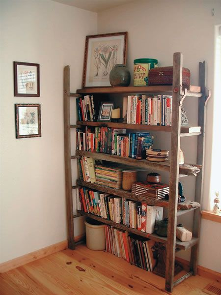 This Reader Turned An Old Ladder Into Decorative Rustic Bookshelves