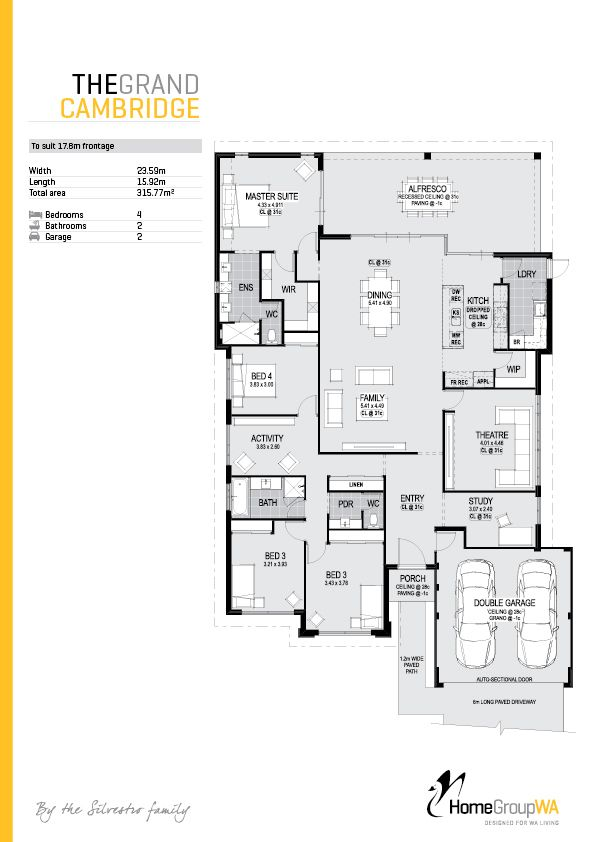 The Cambridge Really Efficient Use Of Space Love This 3300 Square Ft Shrink Down And Eliminate Excess House Floor Plans New House Plans House Plans