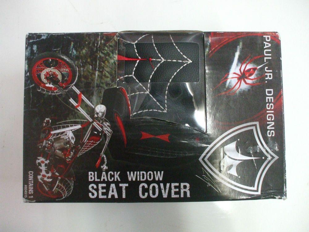Kraco Paul Jr Designs Universal Bucket Seat Cover Black Widow Design