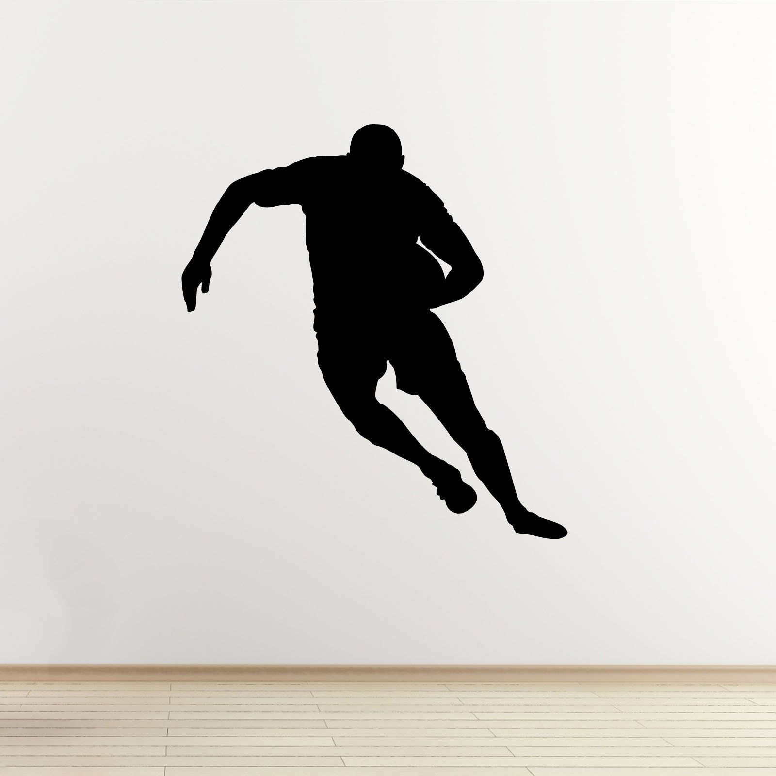 Rugby Player Wall Sticker Passing The Ball SelfAdhesive Wall - Make your own decals uk
