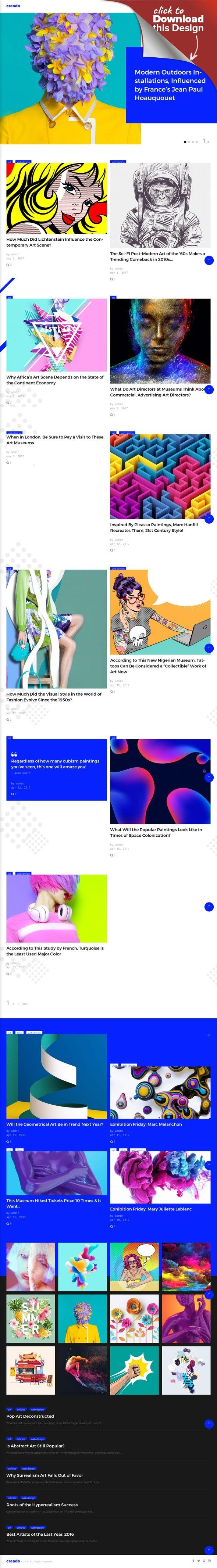 Tema de WordPress para Sitio de Galerías de arte | Best Website ...