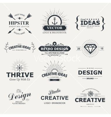 Design vector logos - by Liubou on VectorStock®