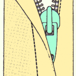 coser cremallera escondida.