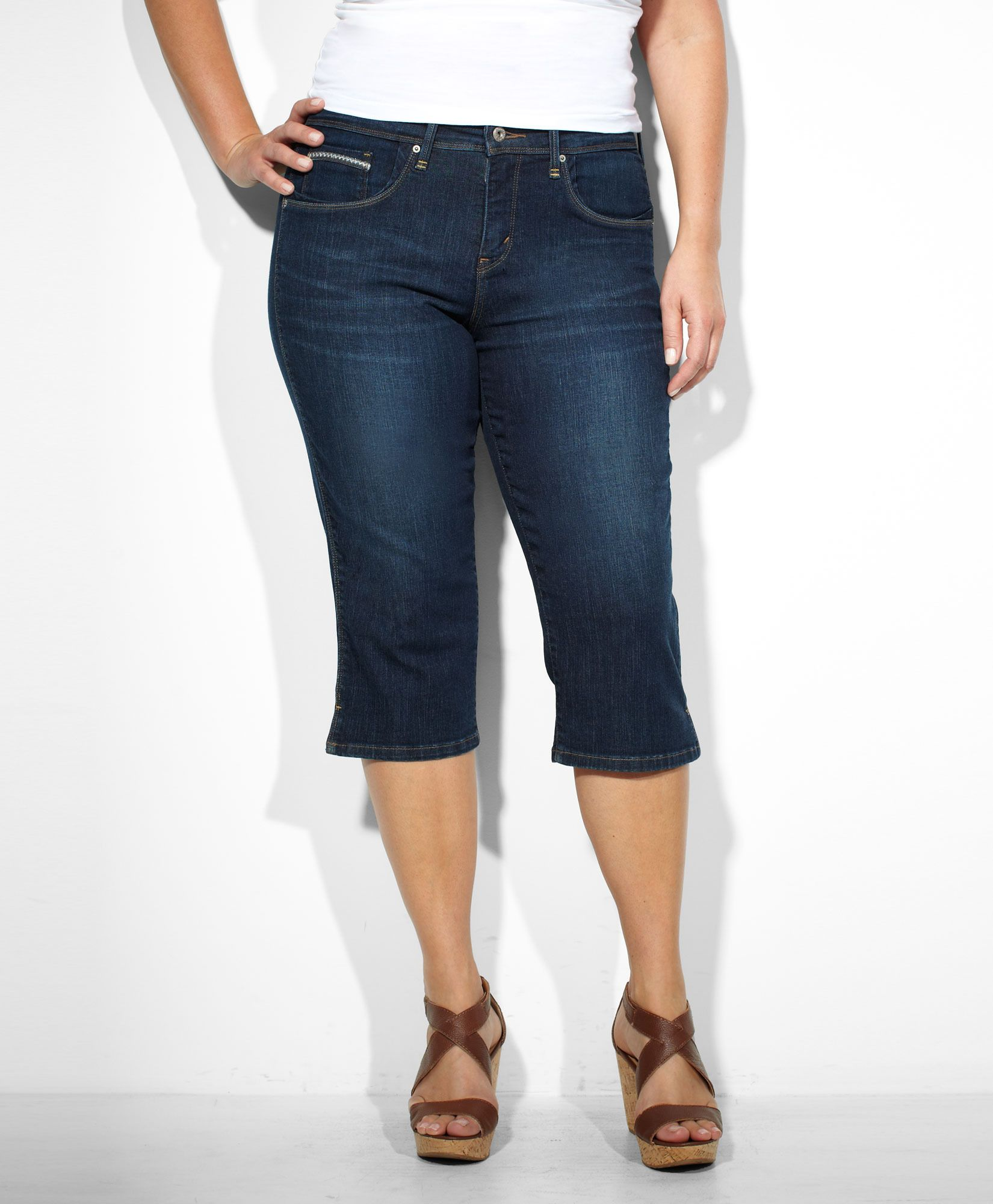 9b954264 Levi's 512™ Perfectly Shaping Capri (Plus) - Indigo Dream - Capris & Shorts