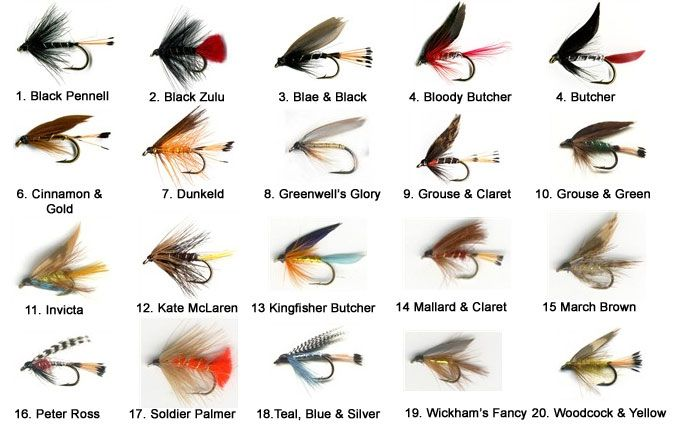 The essential scottish loch trout fly selection the for Different types of fishing lures