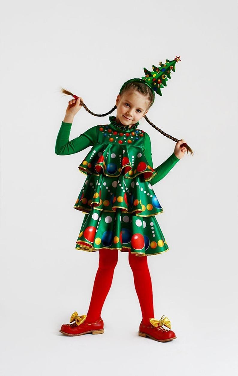 Children S Carnival Costume Christmas Tree New Year Etsy In 2020 Christmas Tree Costume Christmas Costumes Carnival Costumes