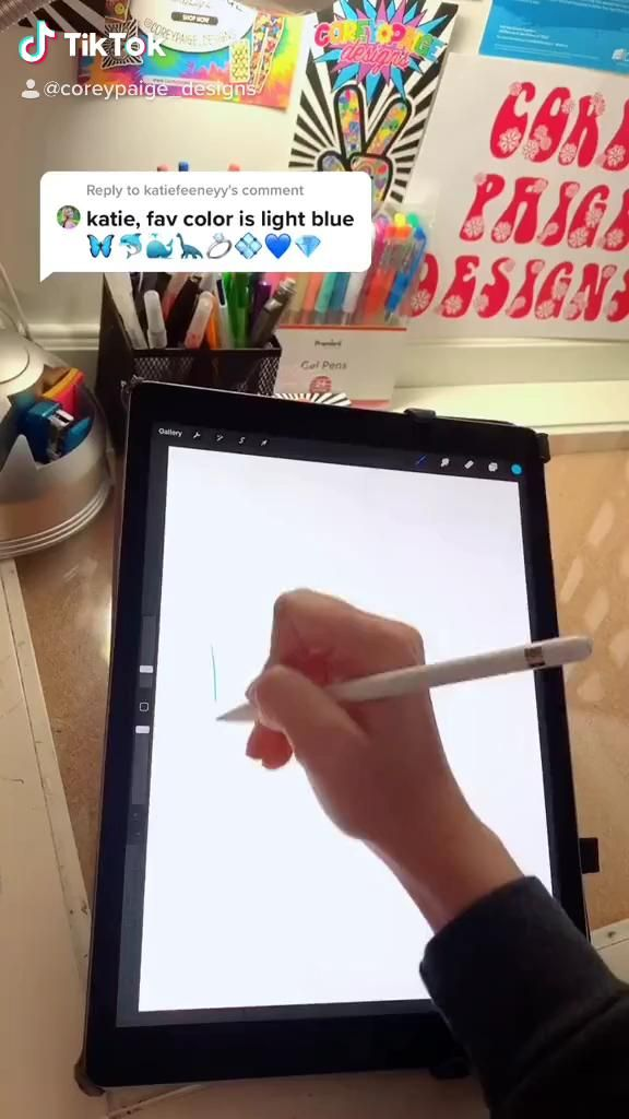 A Procreate How To By Coreypaige Designs On Tik Tok Video Procreate Ipad Art Ipad Lettering Procreate Digital Art Tutorial