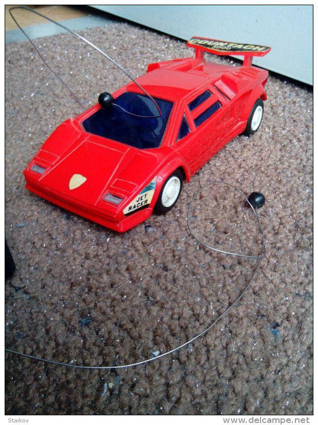 Vintage Rare Old 1985 Lamborghini Countach 5000 R C Battery Operated