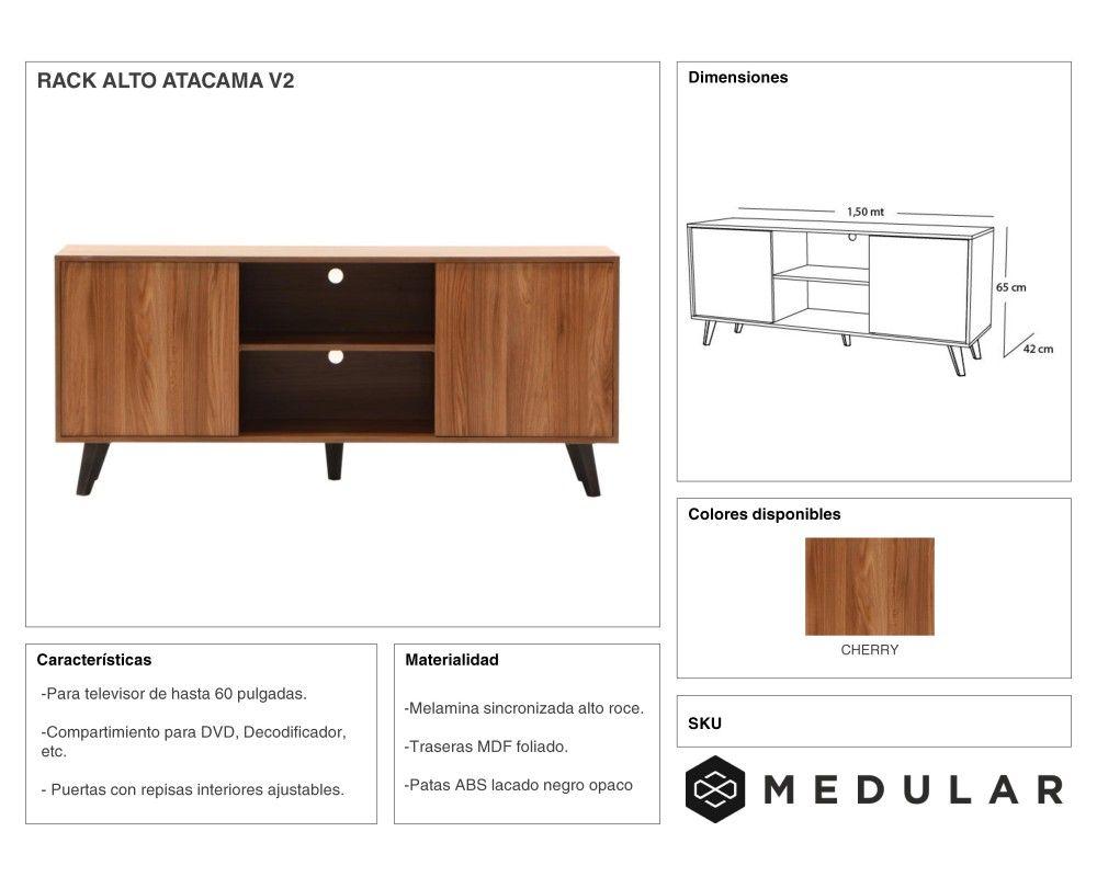 Rack Alto Atacama Medular Dise O Y Muebles Para Tu Hogar  # Muebles Medular
