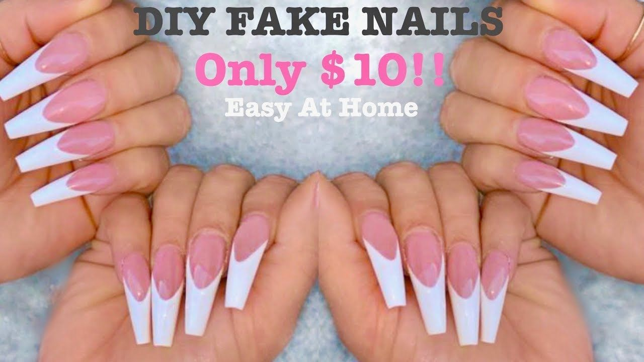 Diy acrylic nail tutorial at home for beginners how to