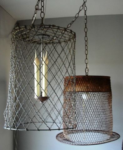 Hanging Basket Lamps Basket Lighting Light Fittings Home Decor
