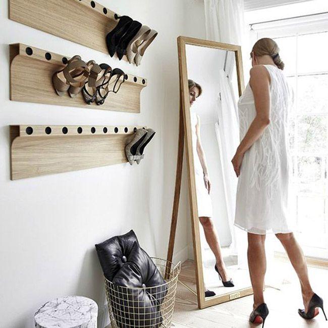 Ideas para organizar los zapatos   Estilo Escandinavo   orden ...