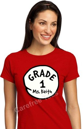 3e63caeb Custom THING 1 and THING 2 Shirts   Education   Dr seuss shirts, Dr ...