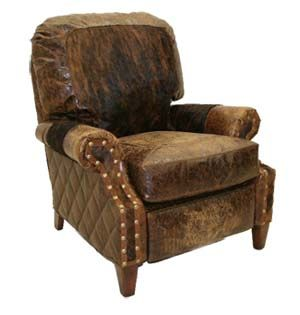 Dressed Up Leather Recliner Western Accent Chairs Luxury