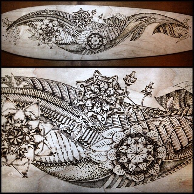 longboard pyrography doodle doodles drawing art arttherapy sketch ink