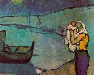 madre e figlio sulla riva 1902