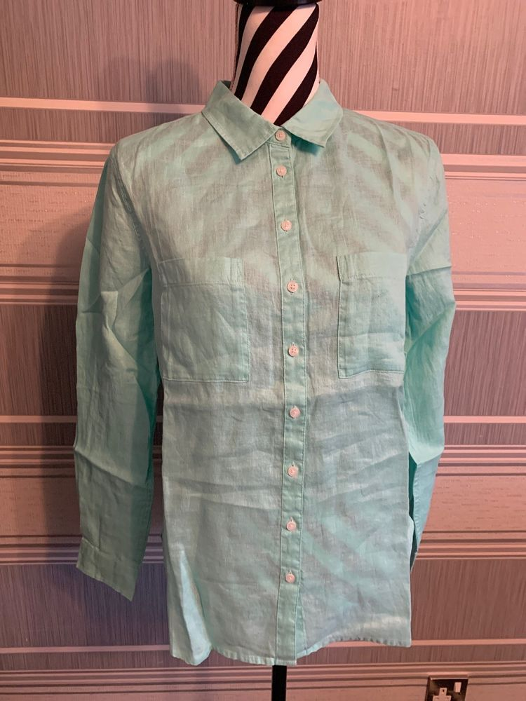 e4fc019fb92 Boden Linen Shirt Wa785 Uk Size 8Regular Aqua 9  fashion  clothing  shoes
