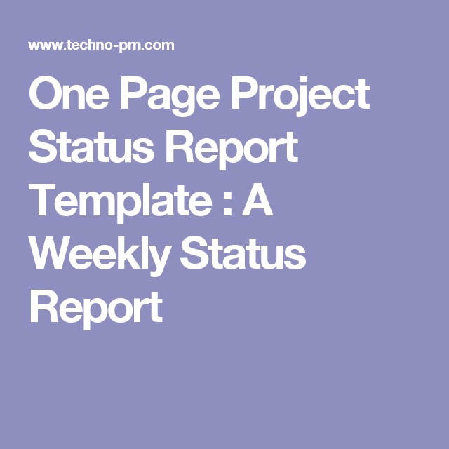 first page of project report