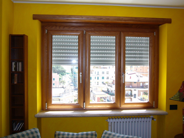 finestra 3 ante pvc effetto legno i nostri infissi in On finestra 3 ante