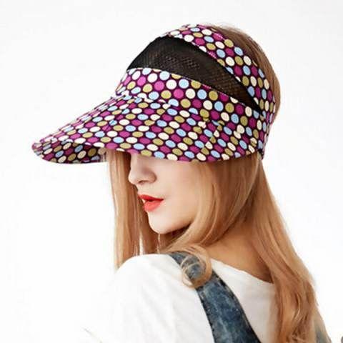 a477c3c690f Wide brim sun visor hat for women UV protection