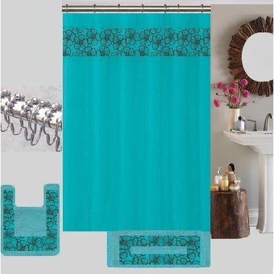 Latitude Run Berlin Shower Curtain Set Color With Images