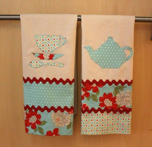 DIY Tea Towels, Moda Fabric