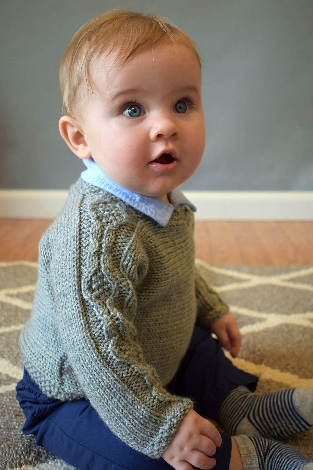 Crosscut Pullover | Baby sweater knitting pattern, Boys ...