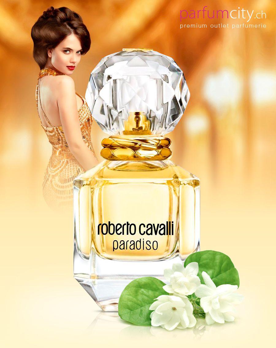 Edle Blumigkeit Prickelnde Saftigkeit Roberto Cavalli Paradiso Perfume Fragancia Botellas