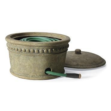 Beaded Stonecast Hose Pot Outdoor Living Furniture And